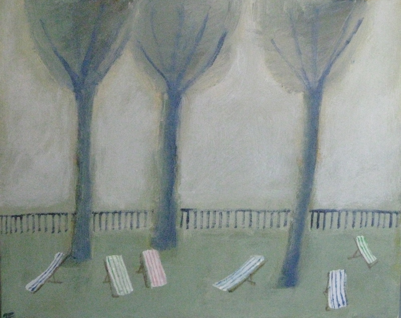 Three Trees And Some Deckchairs